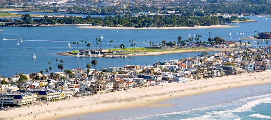 Mission Beach, San Diego, California. One of California's best beach towns.