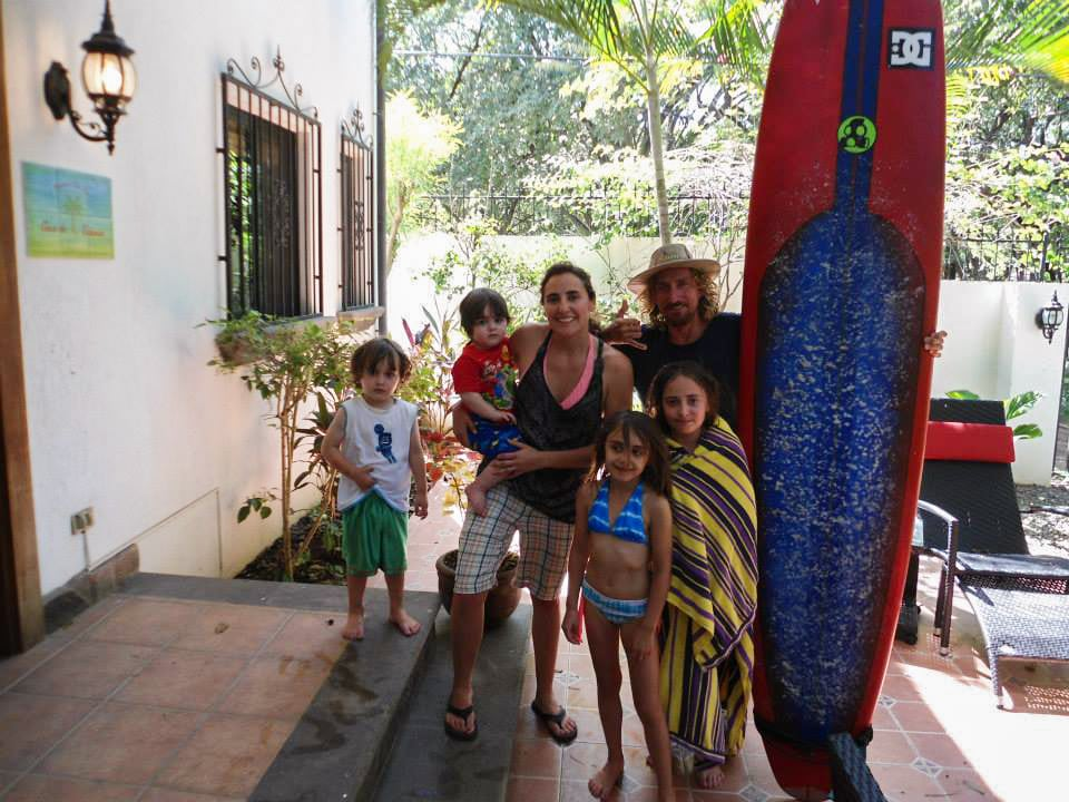 Costa Rica Carolin family Surfing Tamarindo costa rico