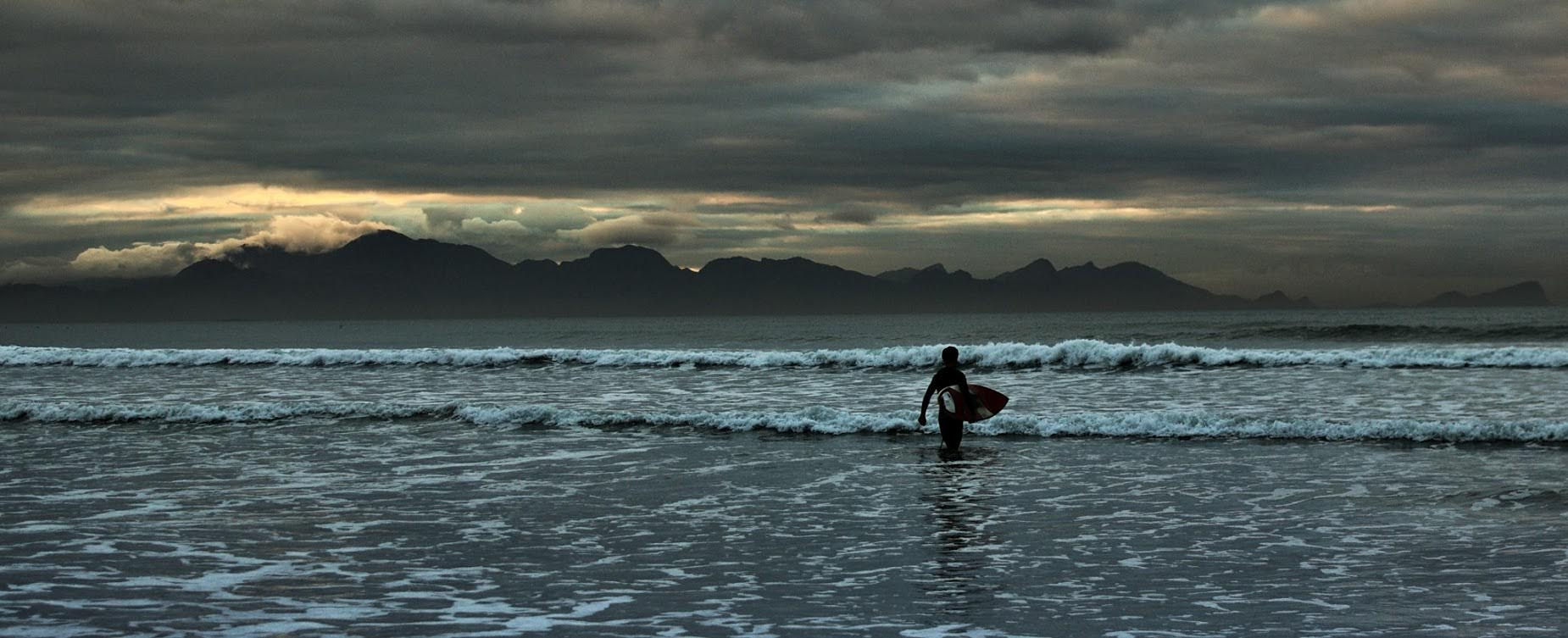 Muizenberg beach early a.m by dave jones