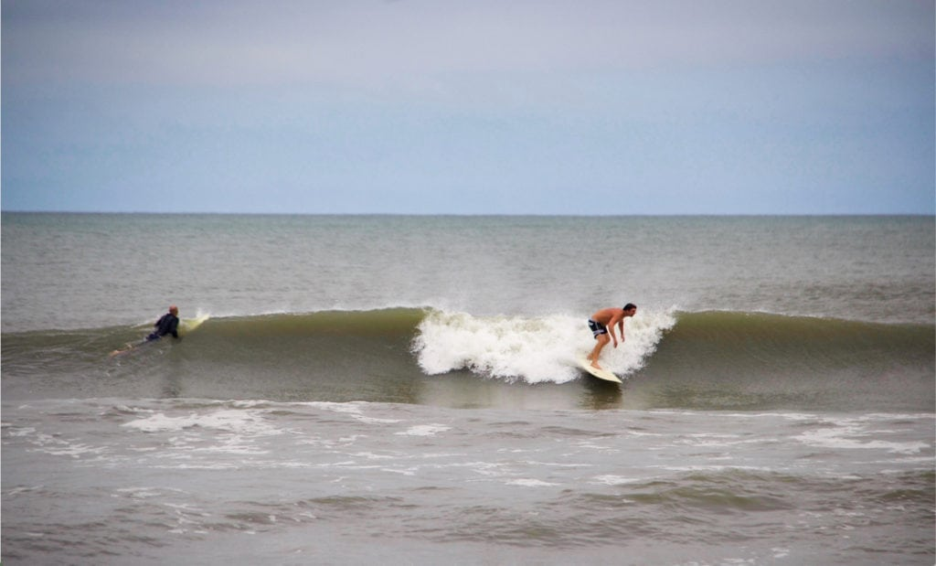 Fun OBX Waves just North of the Avalon Pier. Surf in Surf Out at the Avalon Beach Bungalow OBX