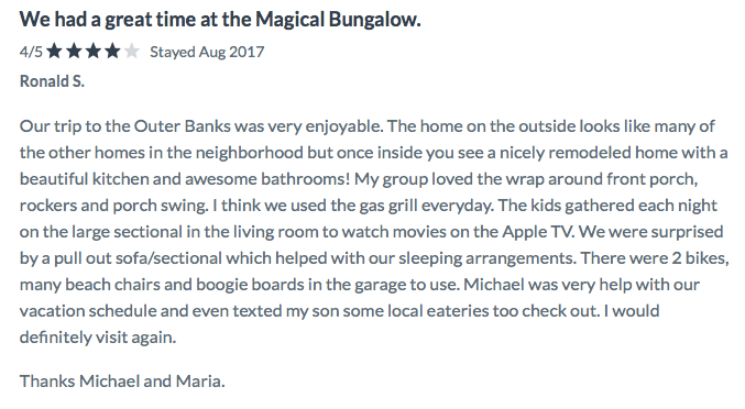 Magical Bungalow Review Laura 5.2017