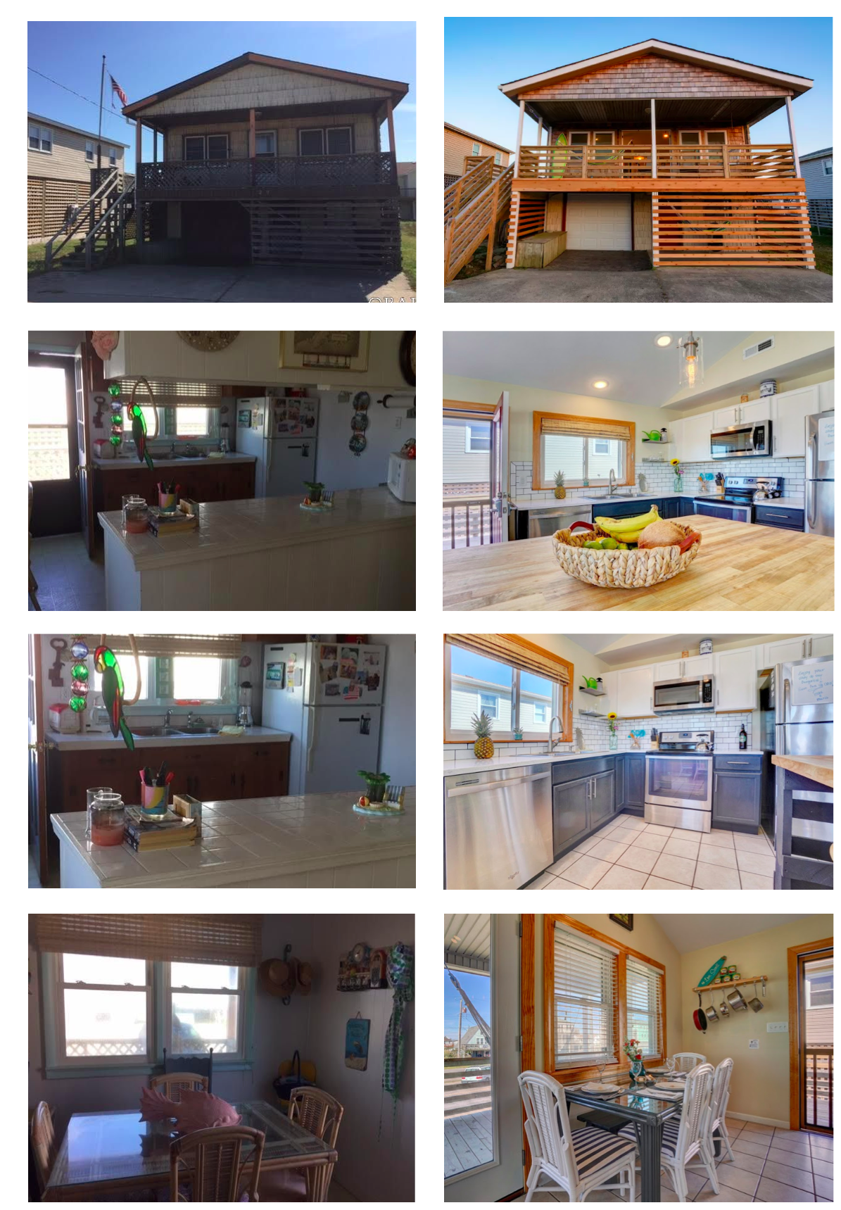 Magical Bungalow 1 Beach House Renovations Before and After