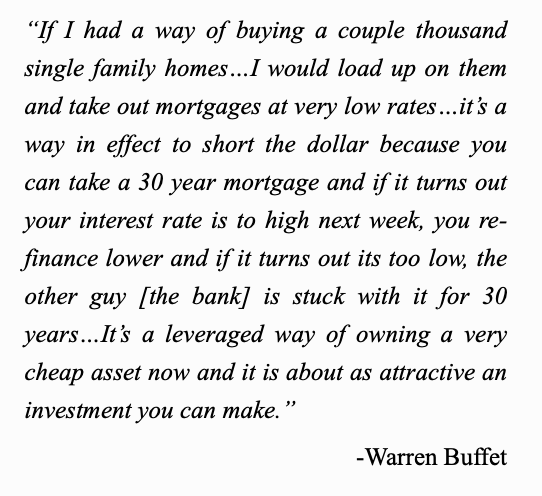 how to short the dollar warren buffet quote