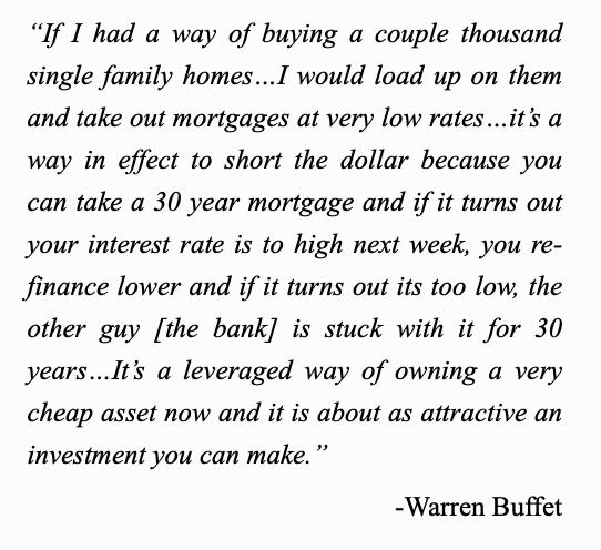 how to short the dollar warren buffet quote