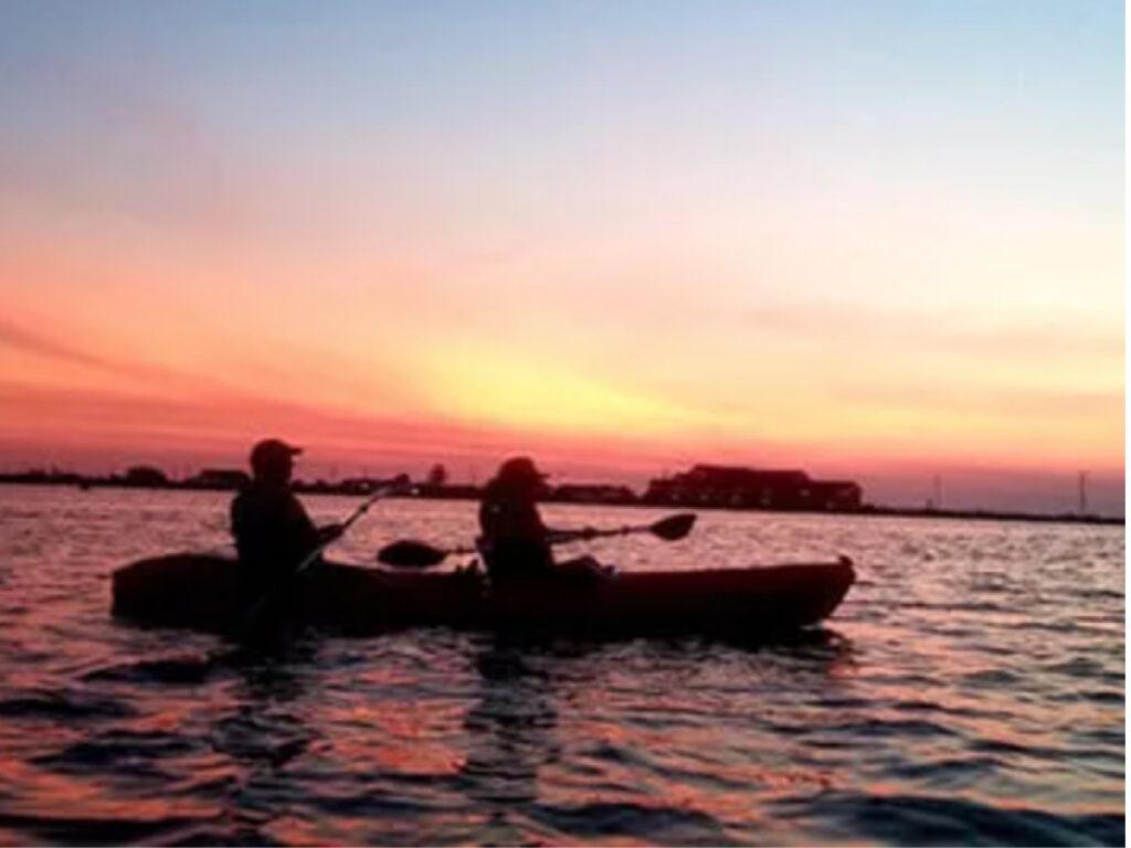 sunset coastal kayaking tour